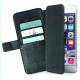 Azuri transparant magnetic wallet case with 3 cardslots - noir - pour iPhone 7
