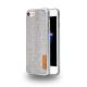 Azuri Elegante fabric cover - gris - pour iPhone 7
