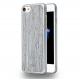 Azuri Elegante wooden cover - gris - pour iPhone 7