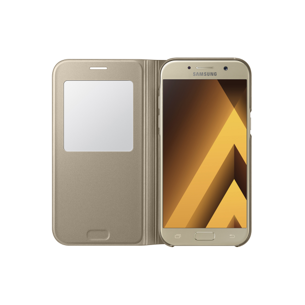 reputable site 76ced 891cc Samsung S-view cover - gold - for Samsung A520 Galaxy A5 2017