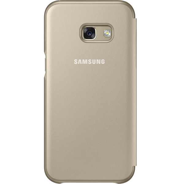 samsung neon flip cover gold for samsung a320 galaxy a3 2017. Black Bedroom Furniture Sets. Home Design Ideas