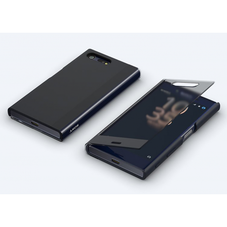 online store d4601 f3ef5 Sony flip cover with transparent front - black - for Sony Xperia X compact