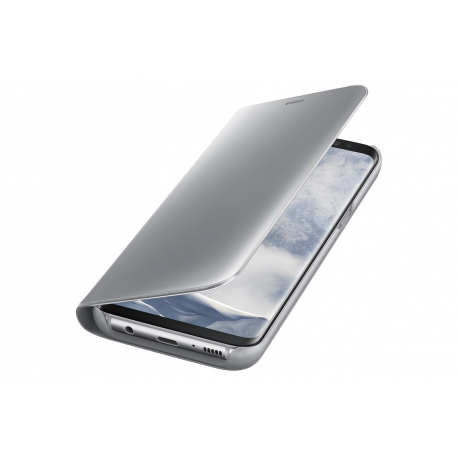 timeless design 73929 4b0f2 Samsung clear view standing cover - silver - for Samsung G950 Galaxy S8