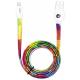 I-Paint USB cable avec Apple lightning connector - Rainbow