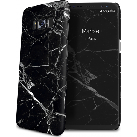 competitive price 5d023 61e56 i-Paint cover Marble - black - for Samsung Galaxy S8