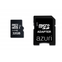 Azuri 32GB micro SDHC card class 10 - Jusqu'à 90MB/s avec SD-adapteur