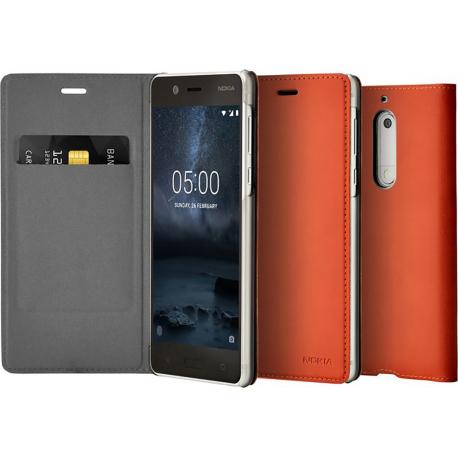 new style b11dc 1e53f Nokia Slim Flip Case - brun - pour Nokia 5