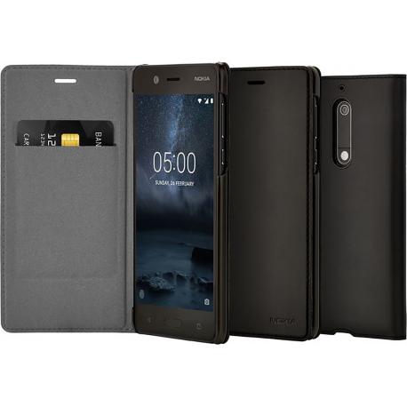 reputable site bbd1f 6a805 Nokia Slim Flip Case - black - for Nokia 5