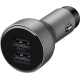 Huawei chargeur voiture + câble data USB-C - chargement rapide - argent