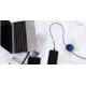 USBEPOWER Cosmo bal charge & sync met USB type C connector - zwart