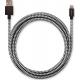 USBEPOWER FAB 250cm câble USB avec connexion Apple lightning - noir/blanc