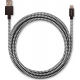 USBEPOWER FAB 250cm USB cable with Apple lightning connector - black/white