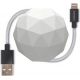 USBEPOWER Cosmo balle charge et sync avec connection Apple lightning - blanc