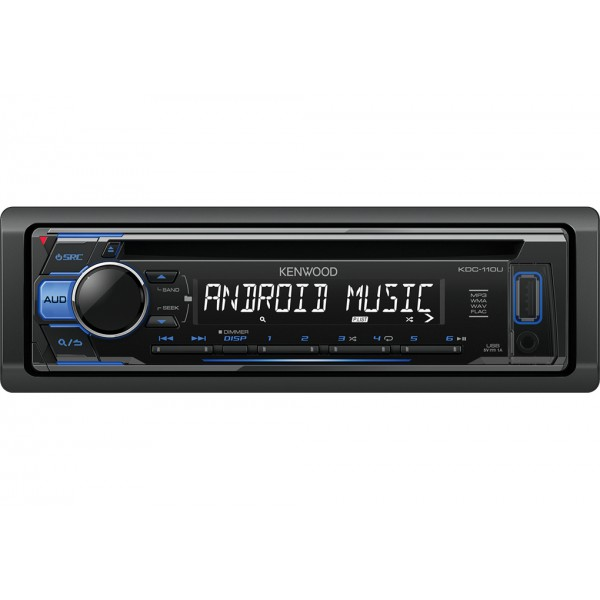kenwood kdc 110ub 200w black blue car media receiver. Black Bedroom Furniture Sets. Home Design Ideas