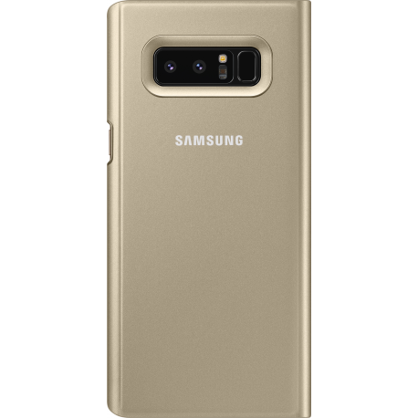 sale retailer 3f7d6 9c046 Samsung clear view standing cover - gold - for Samsung N950 Galaxy Note 8