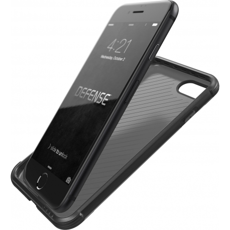 official photos 1ec79 900e8 X-Doria Defense Lux cover - black leather - for iPhone 7 Plus - one part