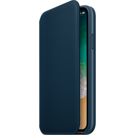 cozy fresh ad240 59901 Apple iPhone X Leather Folio - Cosmos blue
