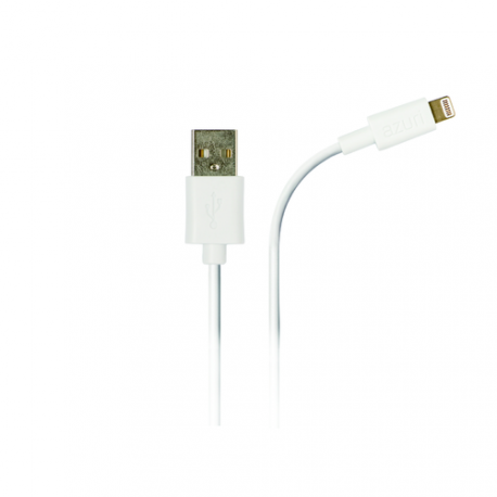Azuri USB câble data avec connection Apple lightning - blanc