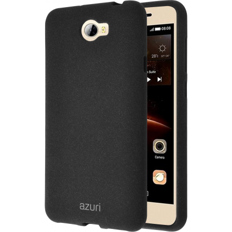 competitive price 0a5f9 f03de Azuri flexible cover with sand texture - black - Huawei Y5 II