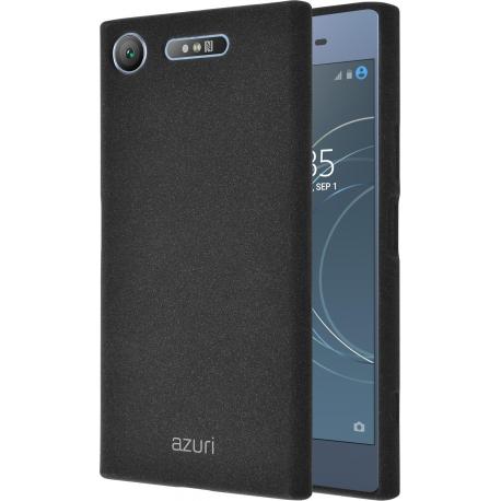 huge discount db5ce e942f Azuri flexible cover with sand texture - black - Sony Xperia XZ1