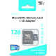 Azuri 128GB micro SDXC card class 10 - 90MB/s avec adapteur