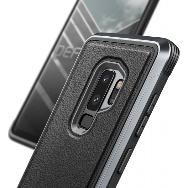 official photos 1db90 4514f X-Doria Defense Lux cover - black leather - for Samsung Galaxy S9 Plus