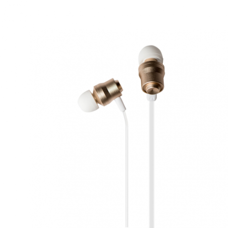 Azuri oreillette stereo mains-libres - premium - 3.5 mm - universel - or