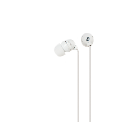 Azuri stereo portable handsfree headset - white - 3.5 mm - universal