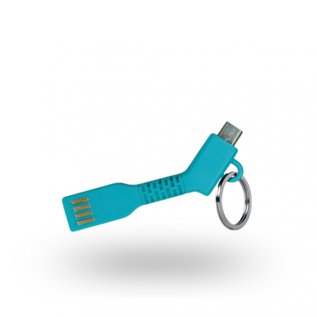 Azuri USB Sync- and charge cable - key - micro USB connector - bleu
