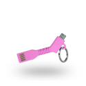 Azuri USB Sync- and charge câble - key - micro USB connector - rose