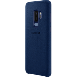 differently 94661 8833b Samsung Alcantara leather cover - blue - for Samsung Galaxy S9 Plus
