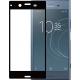 Azuri Tempered Glass flatt RINOX ARMOR - zwart frame - Sony Xperia XZ1