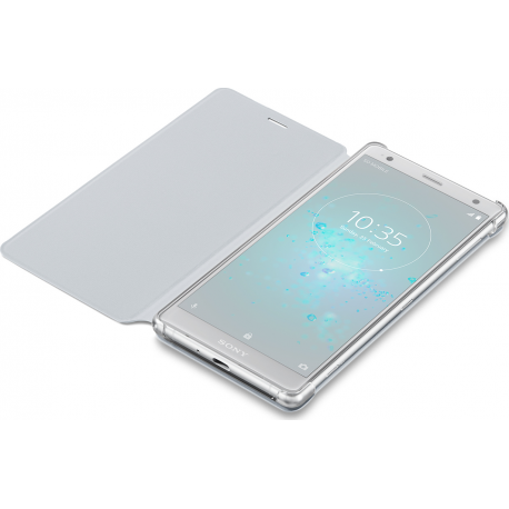 check out 76e49 7b637 Sony flip cover - grey - for Sony Xperia XZ 2