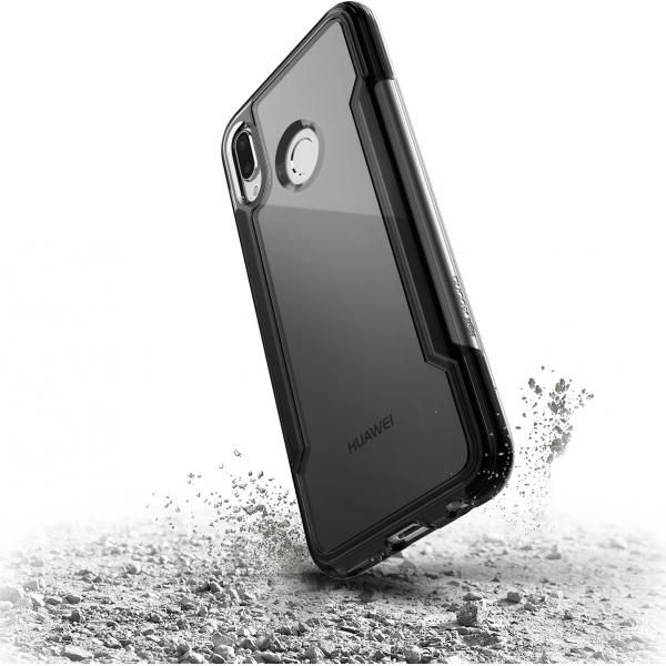 finest selection 83e7c 8a13c X-Doria Defense Clear cover - zwart - Huawei P20 Lite