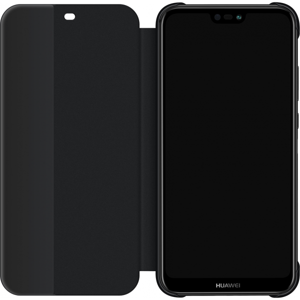 super popular f9939 e7ca4 Huawei flip cover - black - for Huawei P20 Lite