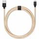USBEPOWER FAB 250cm USB kabel met Apple lightning connector - goud