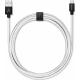 USBEPOWER FAB 250cm càble USB avec connexion Apple lightning - argent