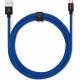 USBEPOWER FAB 250cm USB kabel met micro USB connector - blauw