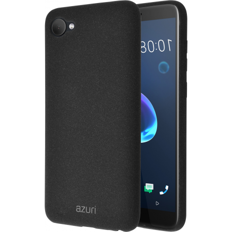 brand new 0c79c 4ac3a Azuri flexible cover with sand texture - black - for HTC Desire 12