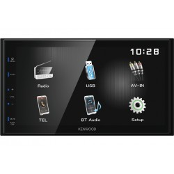 Kenwood Electronics DMX110BT 50W Bluetooth Noir récepteur multimédia de voiture