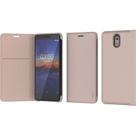 online store ed161 ff034 Nokia Slim Flip Case - beige - pour Nokia 3.1