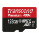 Transcend 128 GB micro SDHC UHS-I card - Read up to 60MB/s & Write up to 25MB/s