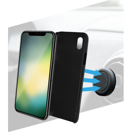 more photos 6dea4 b1313 Azuri magnetic backcover and magnetic car holder - black- for iPhone 9