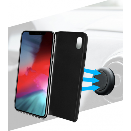 best authentic 02d4a c7571 Azuri magnetic backcover and magnetic car holder - black- for iPhone X Plus