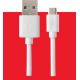 Grab 'n Go (bulk) datacable micro USB (2m) - blanc