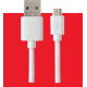 Grab 'n Go (bulk) datacable micro USB (2m) - wit
