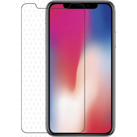 Grab 'n Go flat tempered glass - black frame - for apple iPhone X