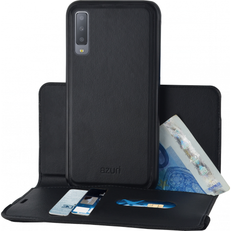 quality design 805fc d3620 Azuri wallet case with removable magnetic cover - black - Samsung A7 (2018)