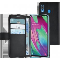Azuri walletcase - magnetic closure & 3 cardslots - noir - Samsung A40