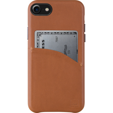 online retailer 58989 ee023 Uniq Duffle leather case - camel - for Apple iPhone 7/8